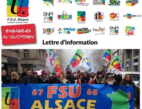 Lettre Flash FSU Alsace octobre 2018