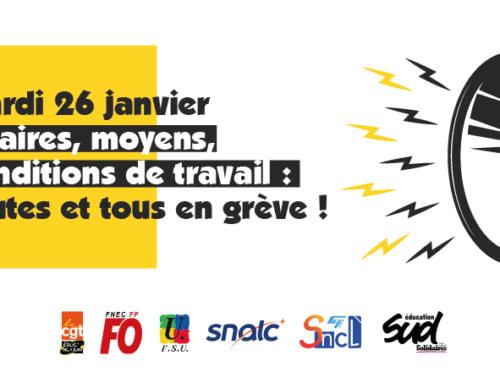 Postes, salaires, défense du statut : en grève le 26 janvier  !!