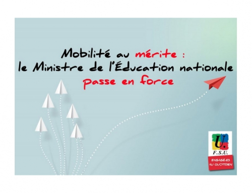 Mobilité au mérite : le Ministre de l'Éducation nationale passe en force